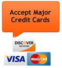 Mobile car repair and mechanic - We Accept Major Credit Cards, Visa, Mastercard and Discover Card